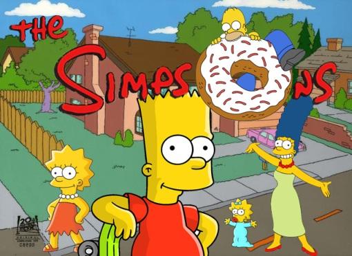 "La familia amrailla: ""Los Simpsons"""